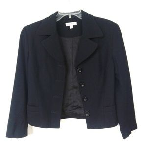 Bebe Black Blazer Cropped  Button Front Jacket 8